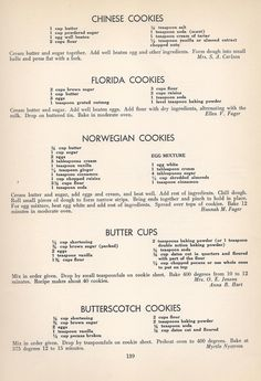 Vintage Cookies Recipes From Chinese Cookies, Florida Cookies, Norwegian Cookies, Butter Cups, Butterscotch Cookies Brownie Cookies, No Bake Cookies, Cookie Desserts, Cake Cookies, Cookie Recipes, Dessert Recipes, Cupcakes, Yummy Cookies, Cookie Jars
