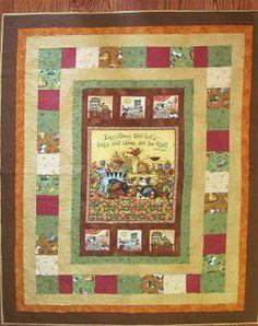 Cat Quilt, Dog Quilt, Cat and Dog, Lap Quilt, Twin Quilt, comforter, blanket, garden, birds, flowers, basket, tulips, paw prings, autumn