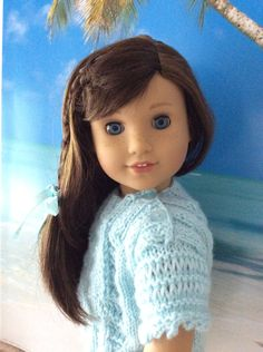 American Girl Doll Clothes-Hand-knitted Tunic Top Destination Oahu Collection by gofancynancy on Etsy