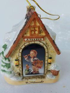 M.J. Hummel Bavarian Village Collection Artist Studio  Ornament No BoxChristmas