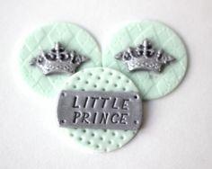 Prince Crown Fondant Cupcake Toppers Prince crown fondant toppers Prince cupcake topper prince cupcake topper wedding toppers by Les Pop Sweets on Gourmly