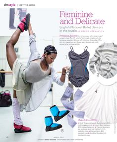 Get English National Ballet dancer Precious Adams' look. Isabelle Brouwers of English National Ballet pairs stripes and solids for a slouchy chic look. Black Dancers, Ballet Dancers, Ballet Wear, Ballet Leotards, Ballerinas, Hip Hop Outfits, Dance Outfits, Ballet Outfits, Contemporary Dance Classes
