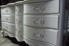 White French Provincial dresser hand painted by Kelly's Creations Refinished Furniture.  https://www.facebook.com/pages/Kellys-Creations-Refinished-Furniture/524028237619793