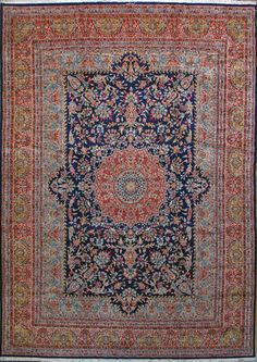 """Kerman Persian Rug, Buy Handmade Kerman Persian Rug 11' 6"""" x 16' 8"""", Authentic Persian Rug $14,200.00"""