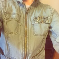 Express jacket Army green studded express jacket Express Other