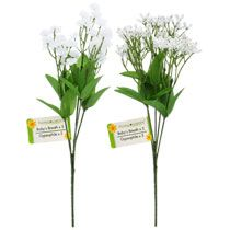 "Bulk 5-Stem Artificial Baby's Breath Bushes, 12"" at DollarTree.com"