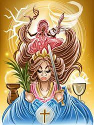 Nana e Santana by OradiaNCPorciuncula on DeviantArt Santa Barbara, Orisha, African American Art, Deviantart, 2017 Images, Princess Zelda, Drawings, Creative, Artist