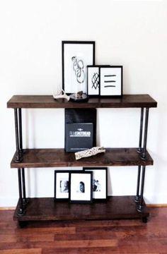black iron pipe furniture  Google Search  Black iron pipe