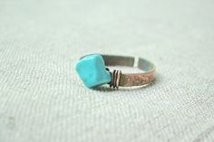 Turquoise ring  blue ring by JD4dreamer on Etsy, $11.00