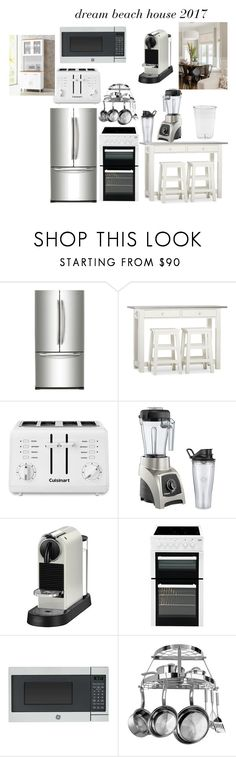 """Untitled #157"" by molly-xoxo ❤ liked on Polyvore featuring interior, interiors, interior design, home, home decor, interior decorating, Samsung, Pottery Barn, Cuisinart and Vitamix"