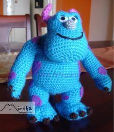 44 super Ideas for crochet amigurumi disney monsters inc Crochet Bunny, Cute Crochet, Crochet Animals, Crochet Crafts, Crochet Doilies, Crochet Toys, Crochet Projects, Crochet Dolls Free Patterns, Amigurumi Patterns