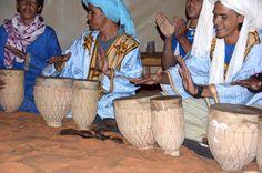 Berber musicians in the Moroccan Sahara