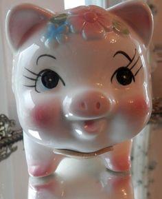 RELPO 2121 Adorable Vintage Piggy Bank Dollar by PinkHypocrisy, $19.50