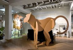 large cardboard animal series, by A4A design
