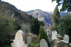 headstones in Wicklow Mountains National Park
