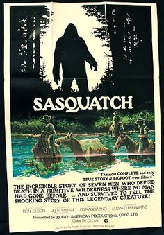 AwesomeBAuctions Proves they are brining it! With this rare poster of the movie Sasquatch!