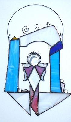 Stained Glass Angel House or Angel Altar