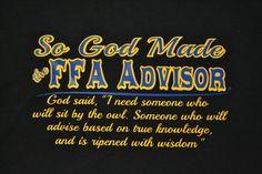 God Made FFA Advisor T-Shirt & Pull Over Hoodie - Cajun Bling II