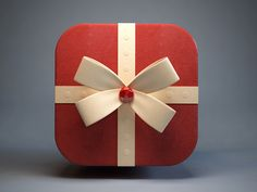 Gift Icon,red, detail
