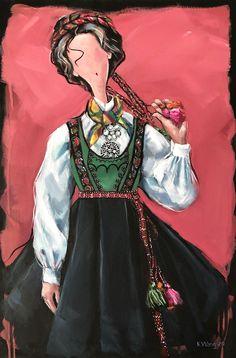Bunad fra Tinn, Telemark Folklore, Illustrator, Princess Zelda, Fictional Characters, Art, Art Background, Kunst, Performing Arts, Fantasy Characters
