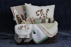 Baby Basket  baby shower  gift basket Personalized by SouthernA