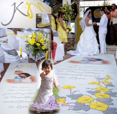 Custom-designed and manufactured by Wedding Aisle Runners - South Africa. www.wedding-aisle-runners.co.za