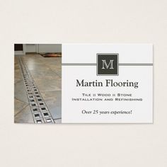 Tile flooring custom monogram business card Carpet Fitters, Tile Flooring, Laminate Flooring, Hardwood