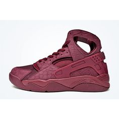 NIKE AIR FLIGHT HUARACHE (BURGUNDY CROC) Sneaker Freaker ❤ liked on Polyvore featuring men and shoes