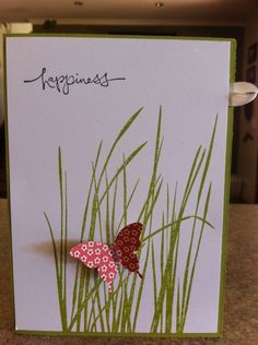 Inspred by Nature Card Hand Made Greeting Cards, Making Greeting Cards, Greeting Cards Handmade, Butterfly Cards, Flower Cards, Origami Butterfly, Tarjetas Diy, Karten Diy, Stamping Up Cards