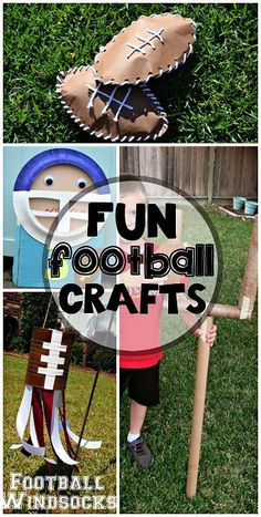 Football Crafts for Kids to Make - Crafty Morning Here's a list of fun football crafts for kids to make at home! These are great art projects for the super bowl or just the football season. Crafts For Kids To Make, Projects For Kids, Kids Crafts, Art For Kids, Art Projects, Toddler Crafts, Project Ideas, Rugby, Sports Art