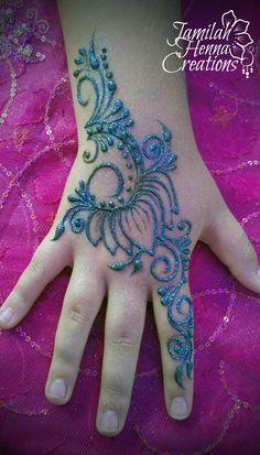 Lotus henna festival style www.jamilahhennacreations.com