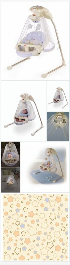 Fisher-Price Papasan Cradle Swing, Starlight - Every Thing Baby