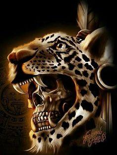 warrior jaguar skull más Jaguar Warrior Skull MásYou can find Aztec warrior and more on our website Aztecas Art, Artist Art, Aztec Drawing, Jaguar Tattoo, Mayan Tattoos, Aztec Tattoo Designs, Totenkopf Tattoos, Aztec Culture, Lowrider Art
