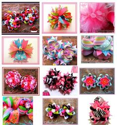 ideas for hair bows by blessedmomof6