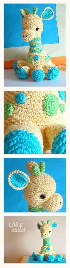 Arafa, la Jirafa - Link to original english pattern - Designer Courtney Deley… Crochet Toys Patterns, Amigurumi Patterns, Stuffed Toys Patterns, Amigurumi Doll, Cute Crochet, Crochet Crafts, Crochet Dolls, Yarn Crafts, Yarn Projects