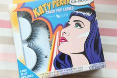 Katy Perry *Ka-Boom!* Eylure lashes falsche Wimpern schwarz/blau + Wimpernkleber
