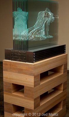Jed Malitz V2 - Vixen Glass Sculpture