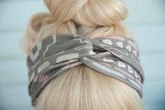 シャツリメイク♪夏のまとめ髪に便利なターバンをDIY!