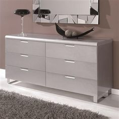 Silver Chest Of Drawers, 106 x 45 x 78.5cm