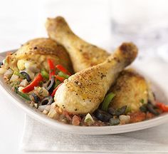 Healthy Dinner Recipes: Mediterranean Chicken (via Parents.com).  Love this recipe!  Have cooked it many a times.