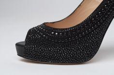 7ac83513fbf Valentino Black Crystal Heels
