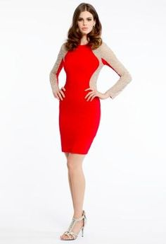 Long Sleeve Jersey Dress   Camillelavie.com #red #dresses #camillelavie #fashion #homecoming #homecomingdress