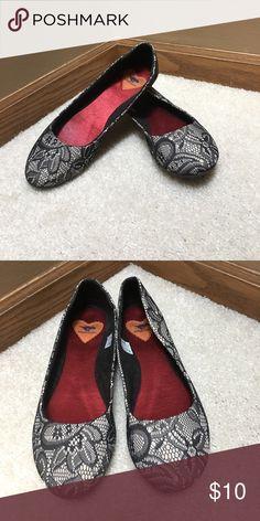 Lace Flower RocketDog Flats worn once. rocketdog flower lace flats. Rocket Dog Shoes Flats & Loafers