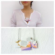 Medium Polymer Clay Necklace Meet Market, Polymer Clay Necklace, Daydream, Tassel Necklace, Mosaic, Medium, Jewelry, Jewlery, Jewerly