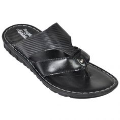 Ajanta Black Men Sandals