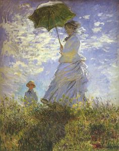 Claude Monet: Lady with parasol ; National Gallery of Art, Washington