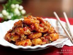 집에서 즐기는 쉽고 맛있는 깐쇼새우 만드는법!!
