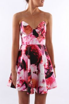Keepsake - Stolen Hearts Mini Dress Abstract Floral Loving this Keepsake strapless, fit and flare style in a gorgeous abstract floral print.  $189.95 SHOP: http://www.jeanjail.com.au/ladies/keepsake-stolen-hearts-mini-dress-abstract-floral.html