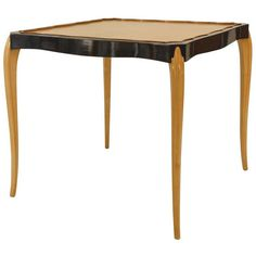 1930's Maurice Dufrene Sycamore Game Table