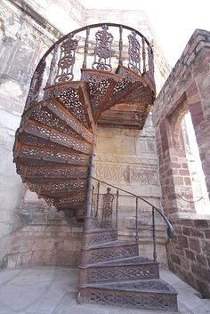 Photo by Shruti Kapoor - Antique Spiral Staircase